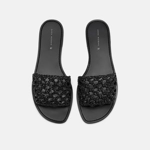 NWT Zara Braided Slides